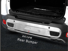 купить Auto Car Rear Bumper Board Guard Skid Plate Protector Stainless Steel Fit For Jeep Renegade 1.4T 2015 16 по цене 4324.2 рублей