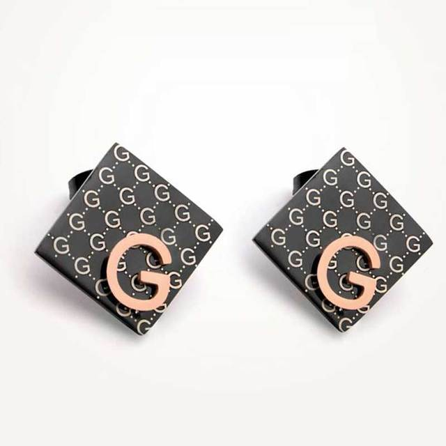 Fashion big brand G letter earrings Luxury full letters rose gold fashion titanium steel hypoallergenic earring Wedding party