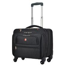 Новая женская деловая сумка Оксфорд на колесиках, дорожная сумка для мужчин 18 дюймов, Многофункциональный чемодан на колесиках