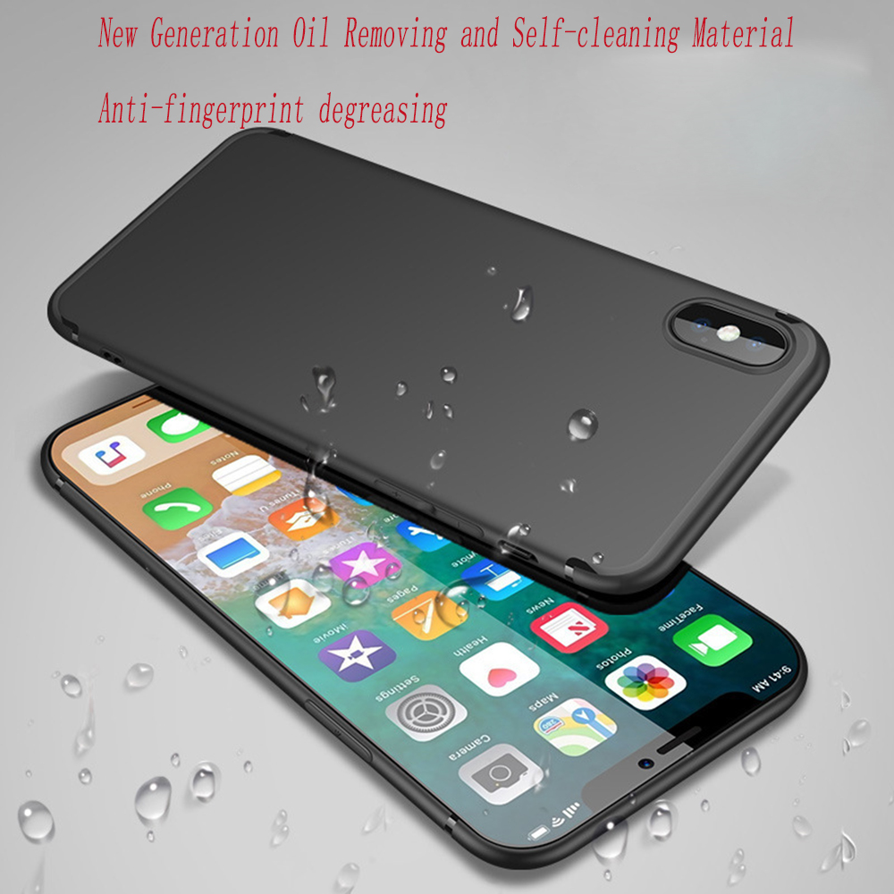 Original 3D Phone Case for IPhone X Xs Max Xr Cover Soft TPU Black for IPhone 8 XR XS Max for Iphone Xs Case Iphone Xr Case