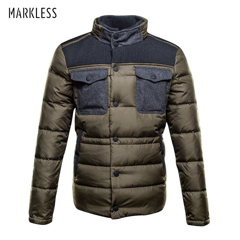 f6ef0db74f678 Aliexpress.com  Comprar Chaqueta de plumón de pato blanco sin marcas 2018  para hombre invierno 90% chaquetas de invierno para hombre gruesas con  capucha y ...