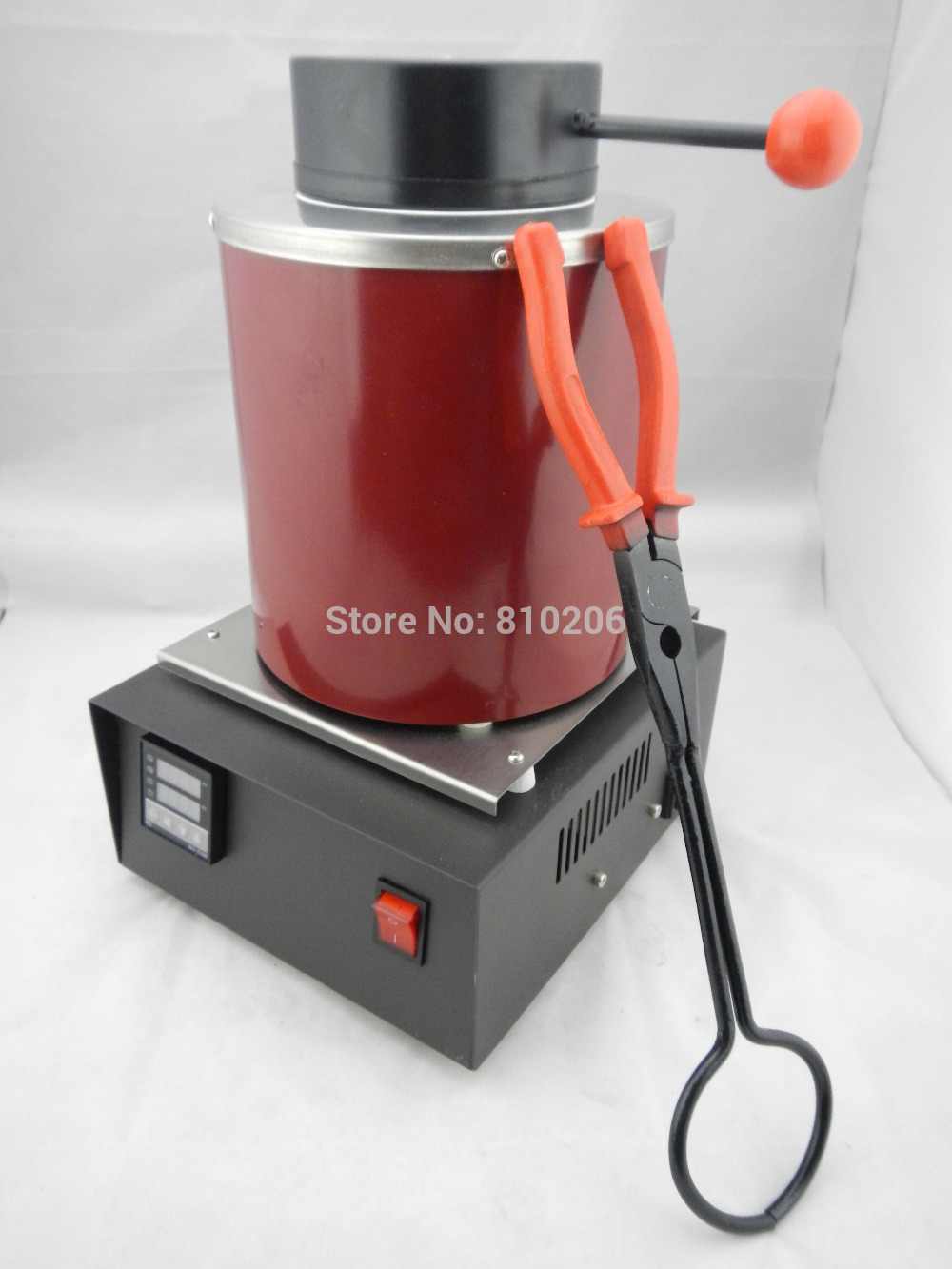 220 Voltage and 2KG Capacity Gold Electric Melting Furnaces with 1pc Graphite Crucible & Plier,Smelting furnace ...