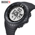 BIDEN Relogio Masculino  Digital Watches men sports 50M Waterproof Quartz large dial military Luminous wristwatches Male Clock