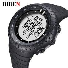 BIDEN Relogio Masculino  Digital Watches men sports 50M Waterproof Quartz large dial military Luminous wristwatches Male Clock