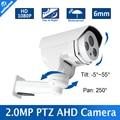 HD 1080 P Мини PTZ AHD Камеры Открытый Исправлена 6 мм Объектив ИК 30 М Ночного Видения Pan Tilt Вращения 2-МЕГАПИКСЕЛЬНАЯ Пуля CCTV Камеры Безопасности