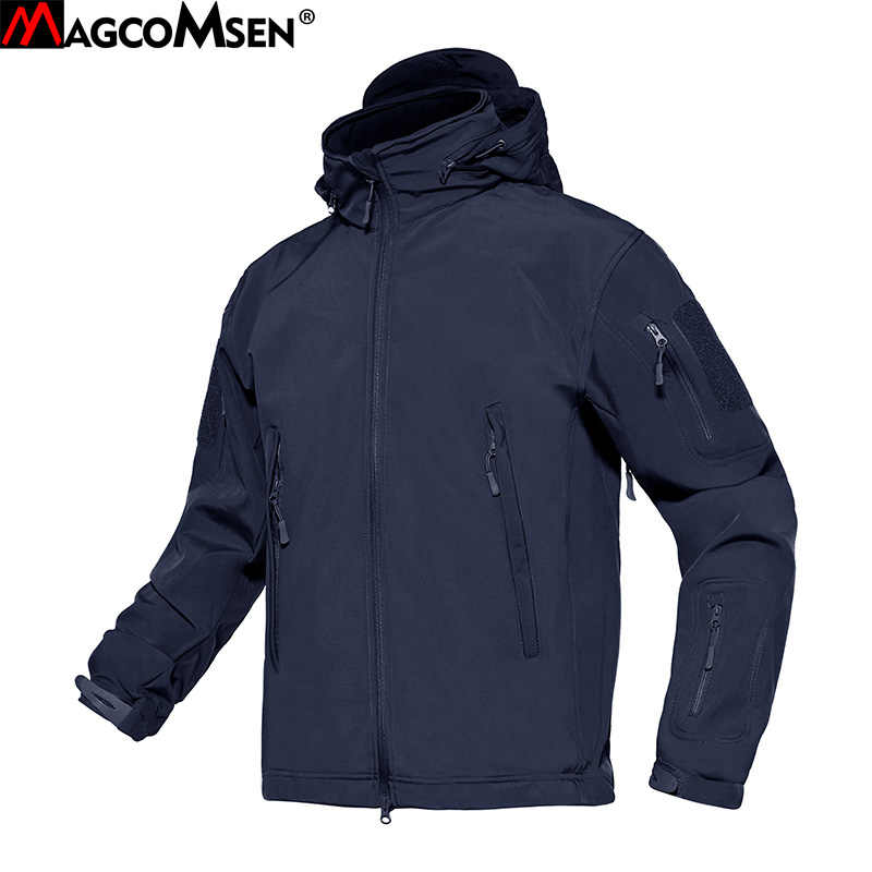 2ffb49ce368c6 MAGCOMSEN Softshell Jackets Men Military Army Tactical Jacket Windproof Waterproof  Fleece Thermal Combat Coat Clothes AG