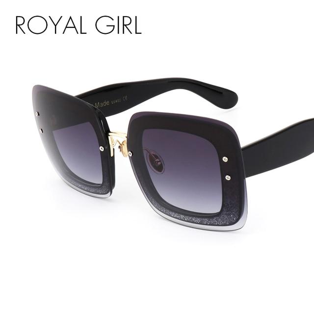 MENINA REAL Sem Aro Óculos De Sol Das Mulheres Retro Quadrados Óculos Oculos  Vintage Feminino Masculino 0d614dda1c