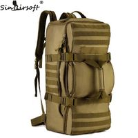 SINAIRSOFT Outdoor 60L Nylon Tactics Soft back Men Bag Military Rucksack Travel Camouflage Shoulder Messenger Backpack LY0058