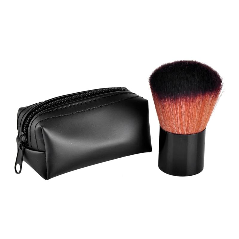 Face Powder Foundation Eye Shadow Makeup Brushes Flat Contour Blusher Brush Synthetic Hair Cosmetic Tools with PU Bag filorga optim eyes eye contour