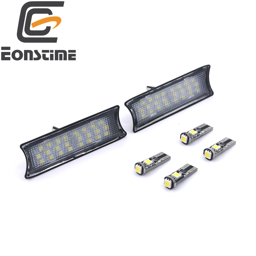 Eonstime 6pcs 24 LED Dome Interior Reading Map Lights For BMW E90 E91E92 328i 330i 2007-2013 cawanerl car canbus led package kit 2835 smd white interior dome map cargo license plate light for audi tt tts 8j 2007 2012