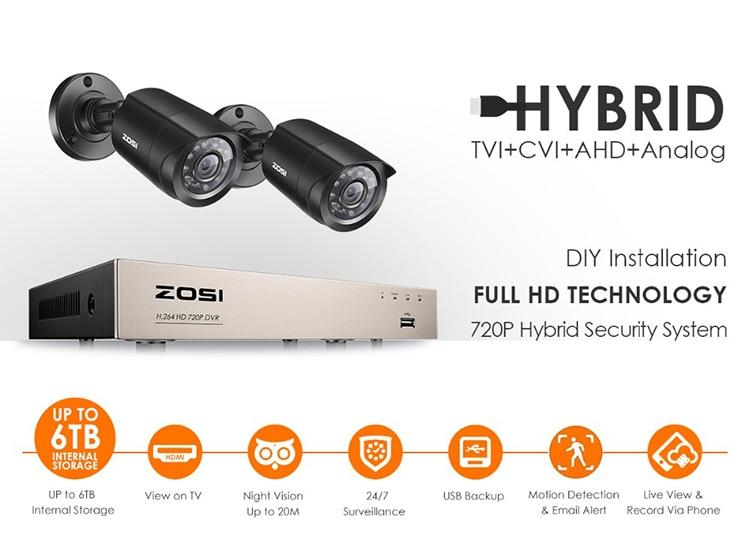 HTB1ru7aasnrK1RjSspkq6yuvXXa4 ZOSI 4CH/8CH DVR CCTV System with 2CH 2PCS 1.0 MP IR Outdoor Security Cameras 720P HDMI CCTV DVR 1280TVL Video Surveillance Kit