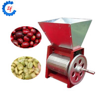 Manual coffee pulper machine fresh coffee bean skin peeling peeler ZF