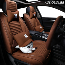ФОТО kokololee car seat cover for jeep grand cherokee guide wrangler liberty guest commander full set seat covers auto
