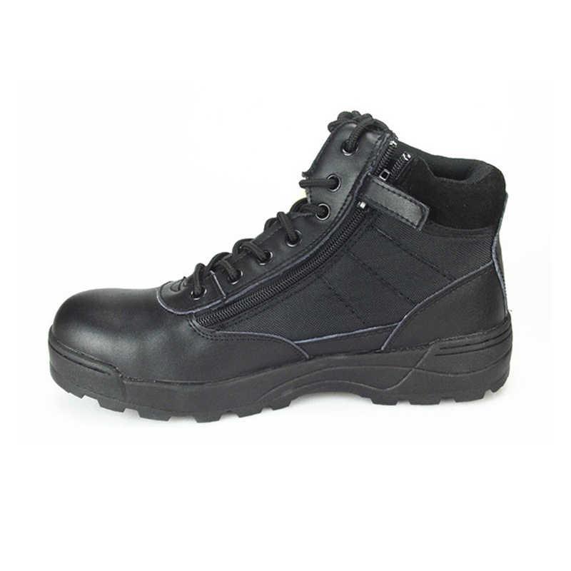 Letnie wojskowe męskie odkryte oddychające taktyczne buty wojskowe buty mężczyźni pustynne armii krótkie buty Botas Hombre Zapatos Masculino