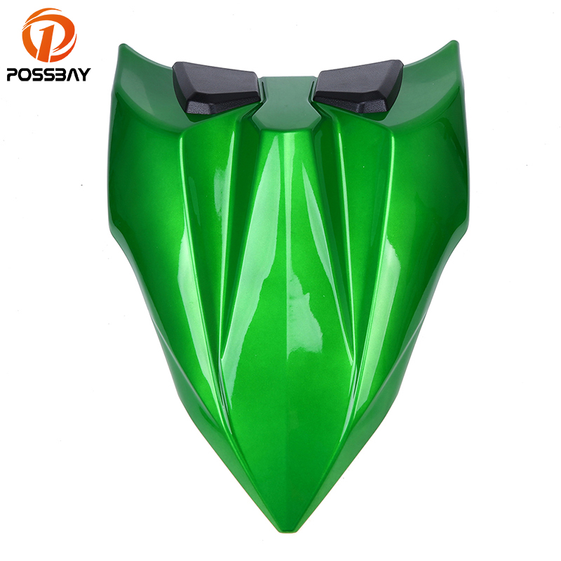 POSSBAY Motorcycle Rear Seat Cowl Motorbike Tail Seat Cover Fit for Kawasaki Z650 2017 Ninja 650 2017 Cafe Racer Seat Covers