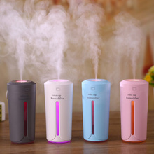 Purifier-Atomizer Car-Humidifier Air-Diffuser Home White LED USB Ultrasonic Office