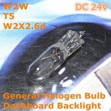Stock Shipping New 24V General Halogen Car Lamp Bulb W2W T5 W2X2.6d for Dashboard Backlight Ashtray Light цена 2017