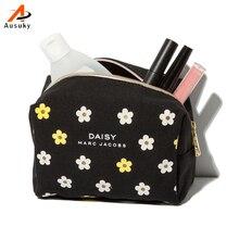 2016 maleta de maquiagem Canves Multi Make up Makeup Organizer bags Women Flower Cosmetic bags Travel Bag Handbag 45