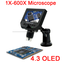 Sale 1-600X HD OLED LCD Display USB Digital Microscope Endoscope Microscope magnifying glass Camera zoom for Maintenance detection
