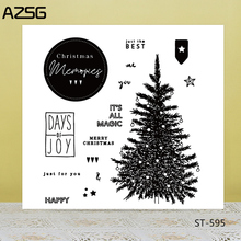 AZSG Realistic Christmas Tree Clear Stamps/Seals For DIY Scrapbooking/Card Making/Album Decorative Silicone Stamp Craft