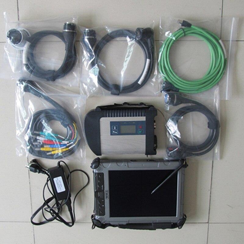 Для Benz MB инструмент диагностики Звезда C4 SD соединиться с ноутбука ix104 Tablet i7 4 г оперативной памяти + программное обеспечение с DTS новые 250 ГБ SSD