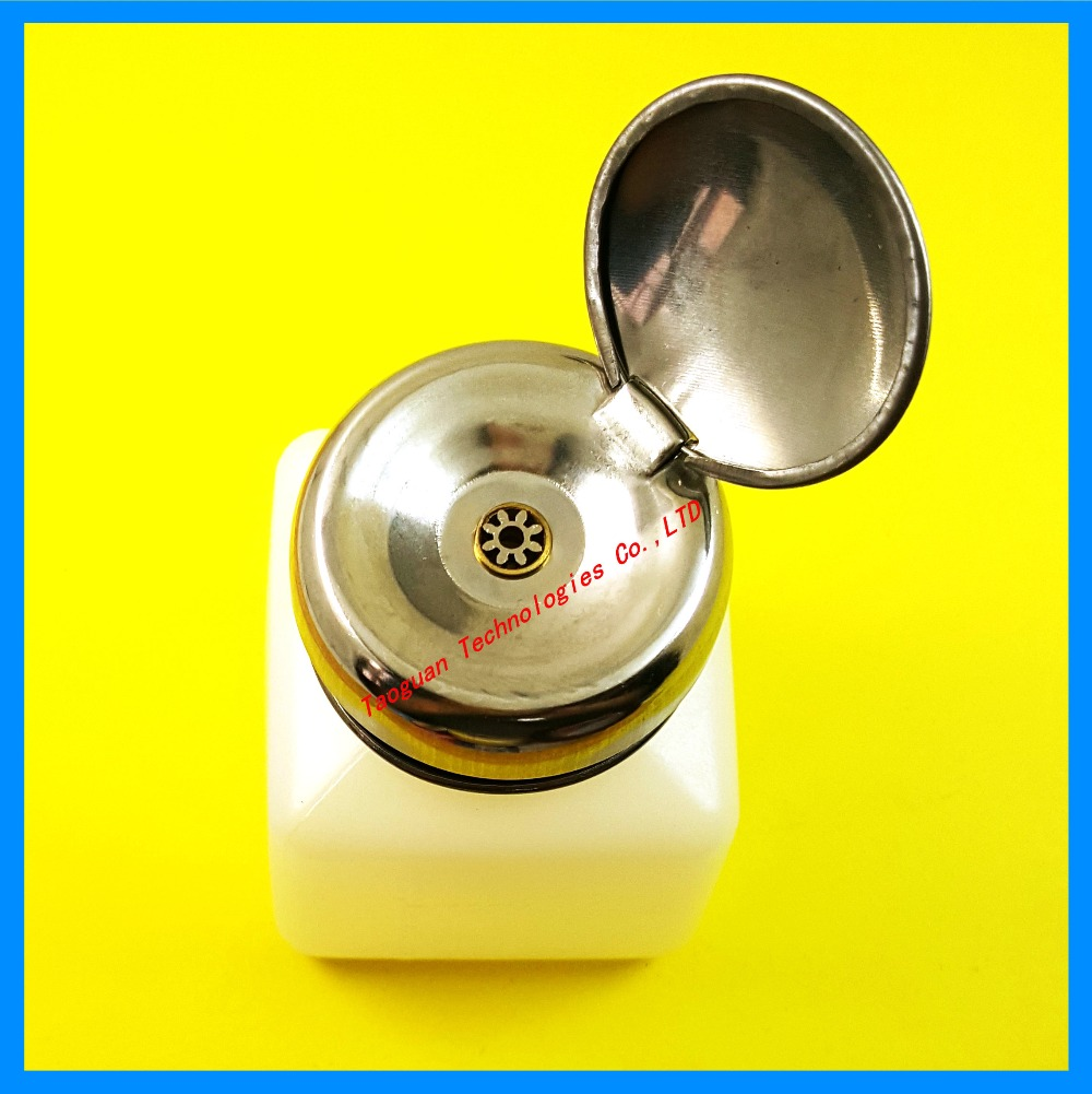 100ML component pot bottle with push button for alcohol spirit water for cleaning panel mobile <font><b>phones</b></font> Repair <font><b>essential</b></font> tools