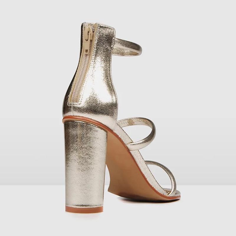 2019 De Sólido Nancyjayjii Tobillo Cremallera Super Con Plateado Señoras Las Mujer Mujeres Tacones Sandalias fiesta Alta Cuadrados Zapatos Moda Ty01 Madura HpdnqABAw