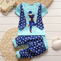baby clothes 2017 newborn summer baby boys T-shirt tops + pants 2pcs sets boys clothes sets baby boy clothes sets
