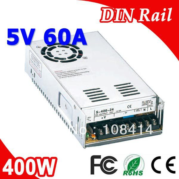 S-400-5 400W 5V LED Power Supply Transformer 110V 220V AC to DC 5V outputS-400-5 400W 5V LED Power Supply Transformer 110V 220V AC to DC 5V output