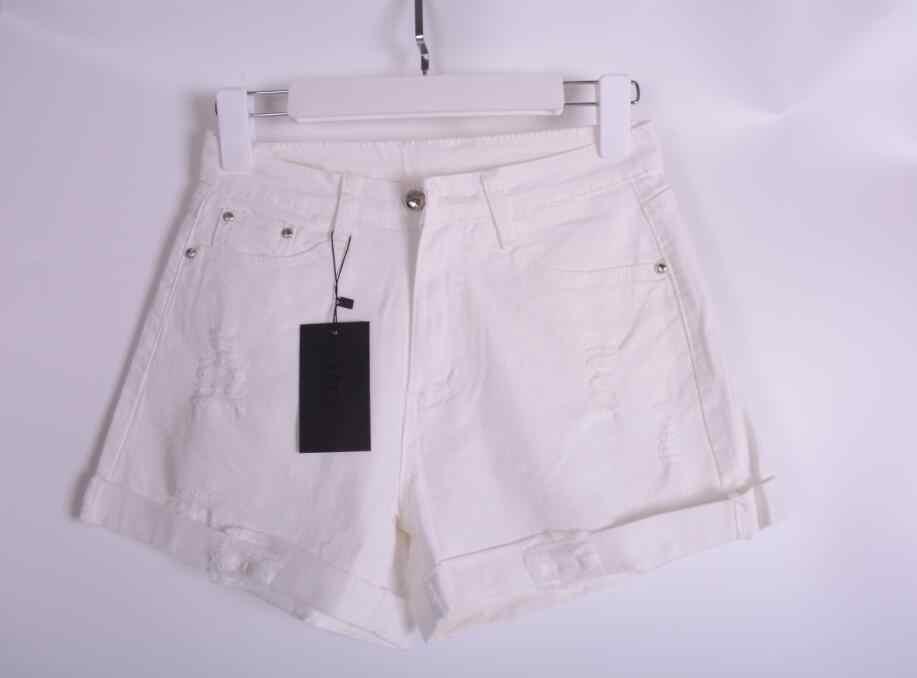 Новое поступление 2018 летние популярные повседневные винтажные джинсовые шорты для женщин Белый Розовый Черный Плюс Размер хлопковые шорты свободного кроя джинсы S3215