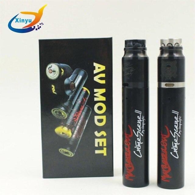 AV kit MOD Rogge mécanique mod kit pour 18650 batterie 510 fil avec atomiseur RDA laiton pointe d'égouttement Vape stylo Cigarette électronique