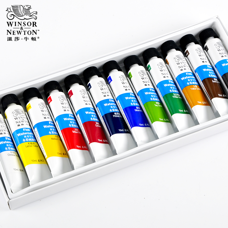 12/18/24 Color Watercolor Paint Tubed Transparent Watercolor Paint Set Sketch Painting Color Tubular Pigment Art Supplies