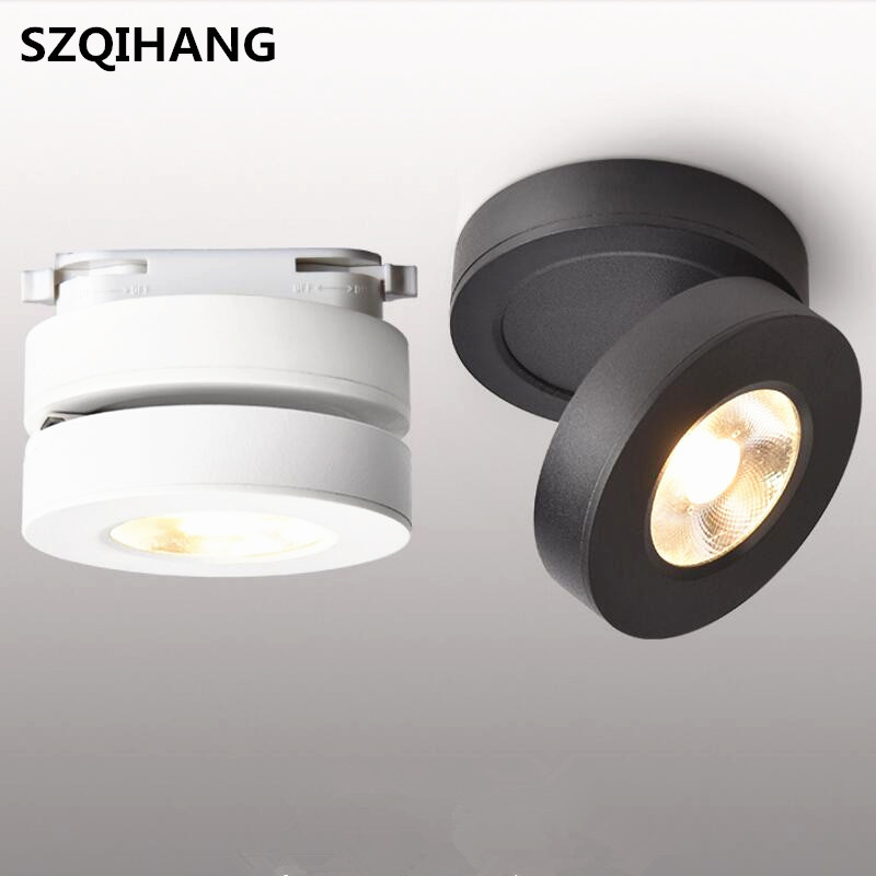 7W/10W/12W COB LED Downlight LED Surface Mounted Spot Light for Clothes Store Shopping Mall Livingroom Track Rail light