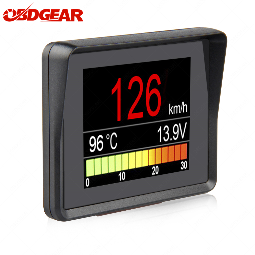 Automobile à bord ordinateur A203 voiture numérique OBD ordinateur affichage compteur de vitesse consommation de carburant compteur jauge de température OBD2