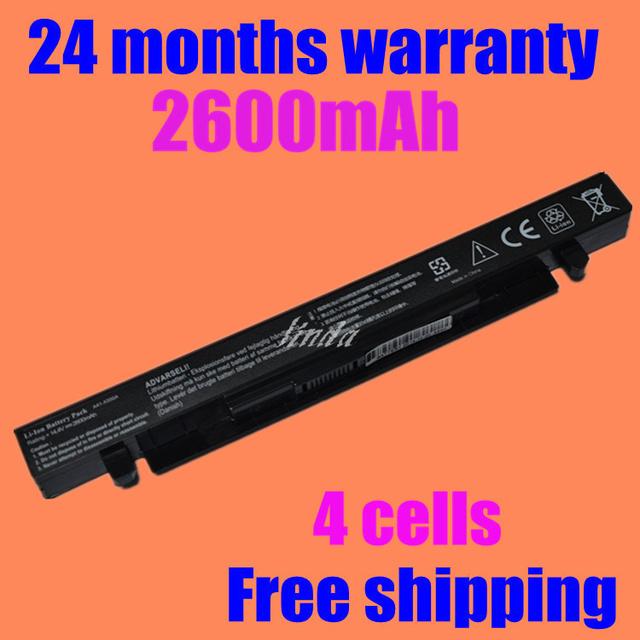 A41-x550a a41-x550 jigu novo 4 células bateria do portátil para asus a450 a450c a450 x550d x550c x550 x550v x450c a550 series
