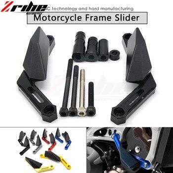 For MT09 tracer FJ09 CNC Aluminum Frame Slider for Yamaha MT 09 MT-09 Tracer 2013 - 2017 XSR900 2016 Red Black Blue Gold Gray