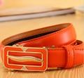 Cinturones de moda para las mujeres de los hombres Unisex de Cuero de Vaca Genuino de Split correa de Cuero hebilla de metal cinturón de cintura femenina accessor