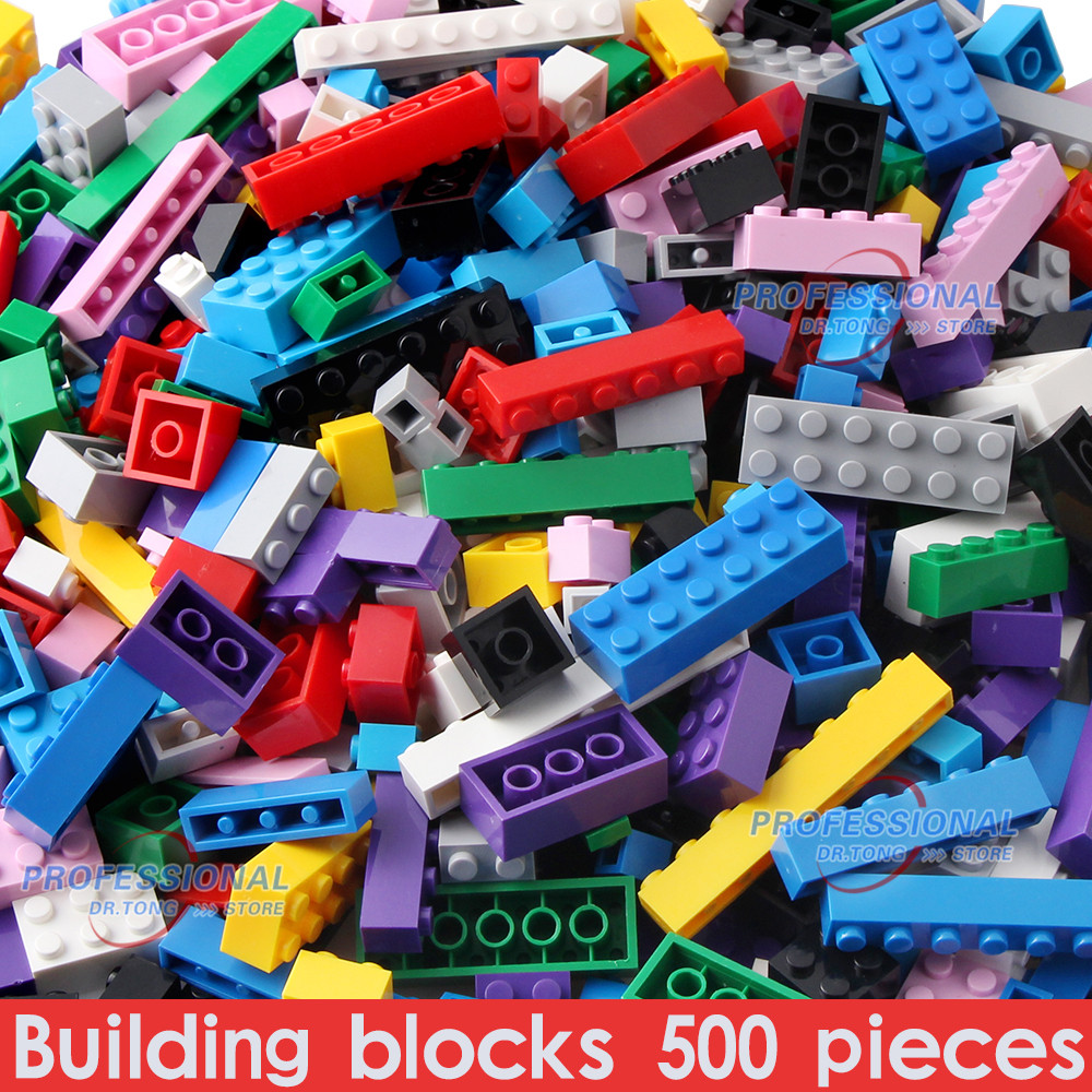 DR.TONG 500PCS Bricks Designer Creative Classic DIY Building Blocks Sets City Educational Toys For Children gifts 10 Colors