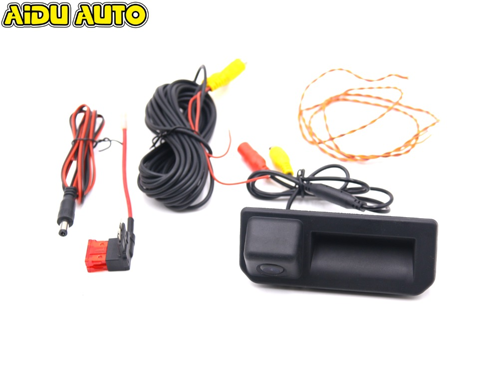HD CAR Rear view Handle Camera FOR VW MQB Polo sedan Vento JETTA Q2 A5 KODIAQ 2016 2018 in Vehicle Camera from Automobiles Motorcycles