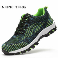 Plus Size Men S Casual Breathable Mesh Steel Toe Covers Working Safety Tooling Shoes Puncture Proof