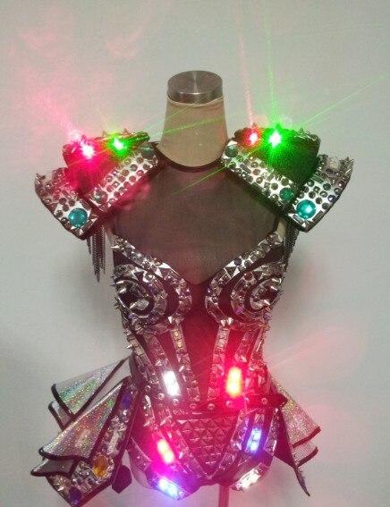 Sexy Women Laser Led Costumes  Ladies Nightclub Led Suit -9436