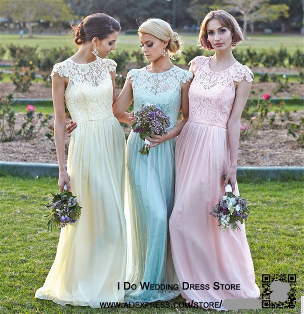 Popular fashion elegant pink long bridesmaid dress buy cheap 5040 pink sky blue pastal yellow colored chiffon elegant design new fashion 2017 lace bridesmaid dresses ombrellifo Image collections