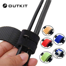 OUTKIT 2PCS New Fishing Tools Rod Tie Strap Belt Tackle Elas