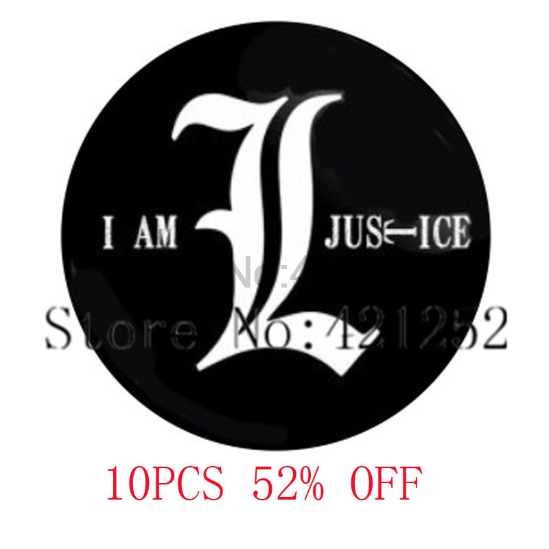I Am Justice Pendant Jewelry Glass Photo Cabochon Necklace keyring bookmark cufflink earring