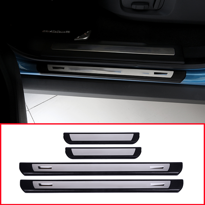 Stainless Steel Car Outside Door Sill Threshold Protection Plate 4pcs For BMW X1 F48 2016 2017