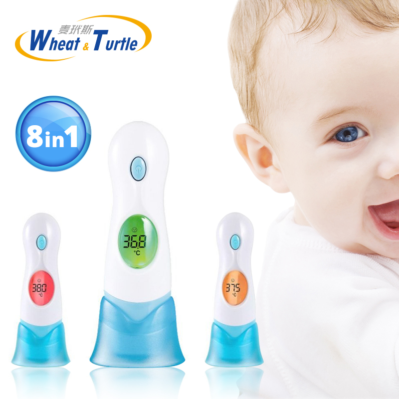 Mother Kids Baby Care Baby Digital Thermometer Body Ear 8 in1 Multifunctional Infrared Electronic Body Fever Monitor Thermometer