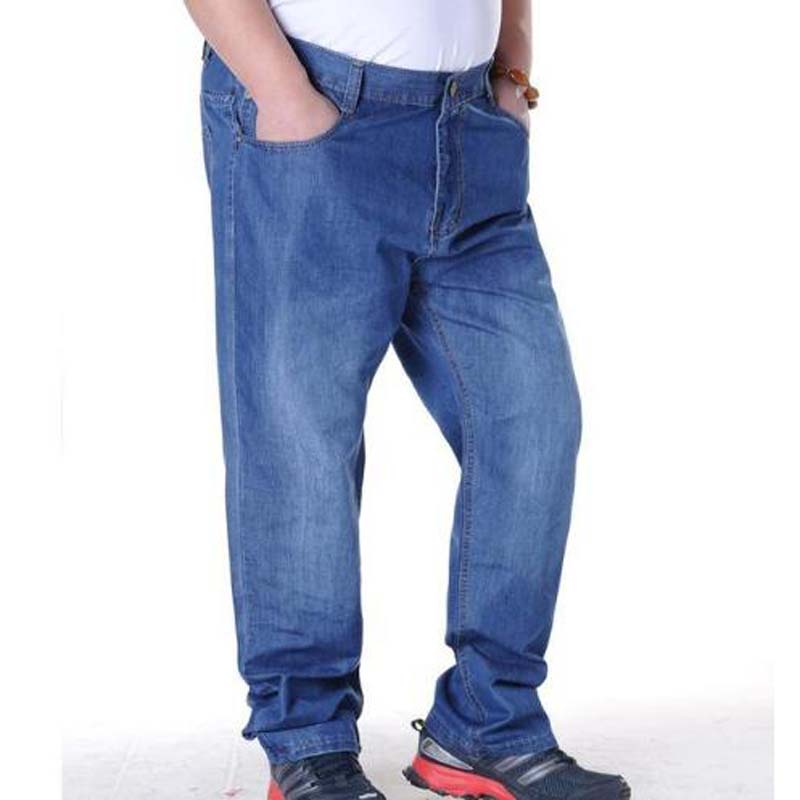 Jeans Men Plus Size 44 45 46 47 48 Designer Cotton Stretchy Denim Large Big Size Pants Trousers Blue Brand Jean For Men xmy3dwx n ew blue jeans men straight denim jeans trousers plus size 28 38 high quality cotton brand male leisure jean pants