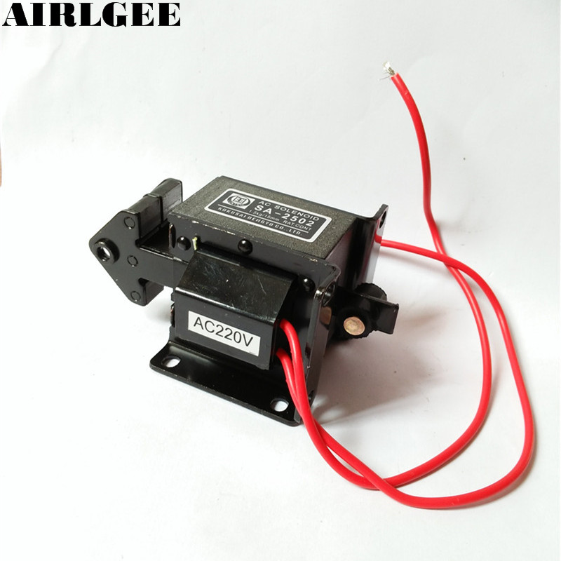 High quality  SA-2502 Lift 1.5kg AC220V Tractive Solenoid Electromagnet Free shipping  цены
