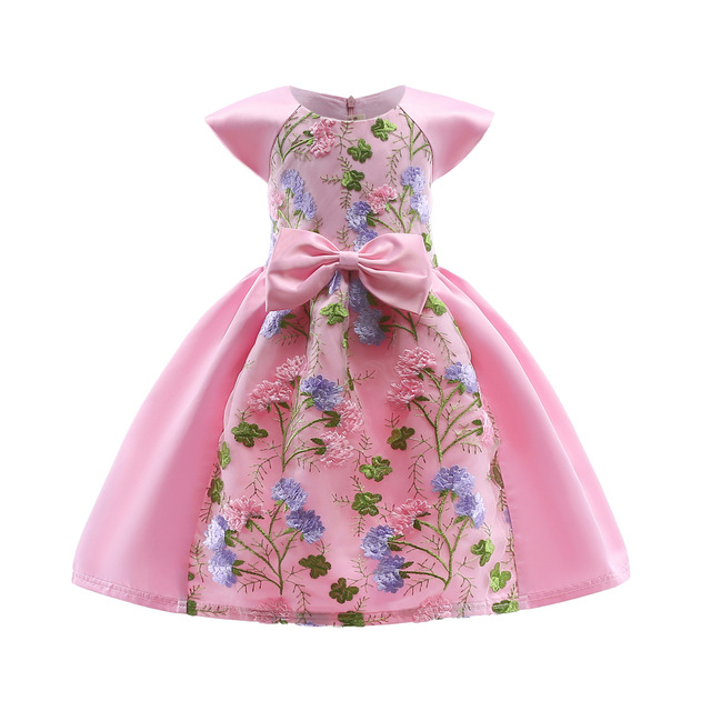 Baby Girl Princess Dresses Embroidery Kids Clothes Wedding Dress For ...