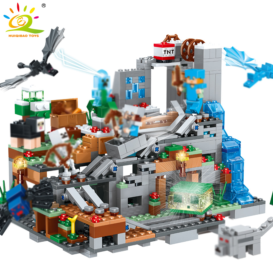 Skup 865pcs My World Mechanism Cave Building Blocks Compatible